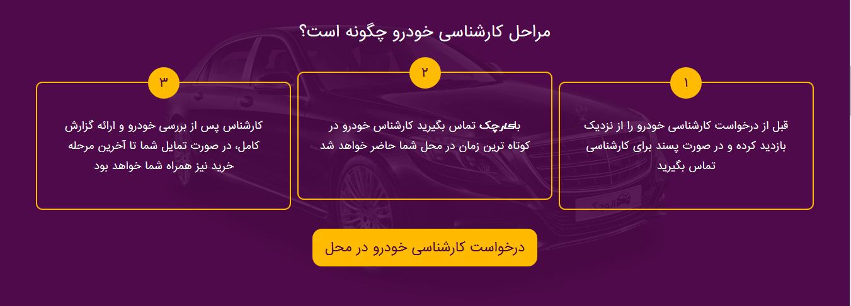 مراحل درخواست کارشناسی خودرو در اصفهان